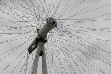 Spokes of a ferris wheel