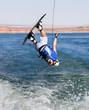Man wakeboarding at Lake Powell 04