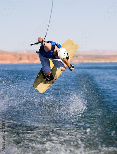 Man wakeboarding at Lake Powell 08 - 24478168