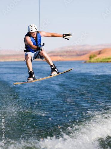 Fotobehang Water Motorsp. Man wakeboarding at Lake Powell 10