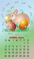 Calendar for 2011 a symbol a hare
