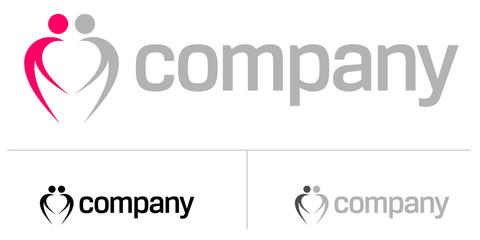 Couple heart logo