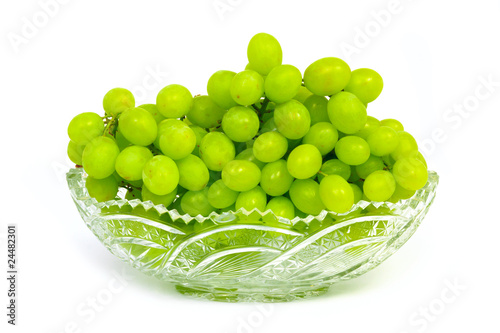 Grape in crystal vase