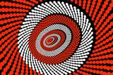 ovale zielscheibe, dart, vision, perspektive poster