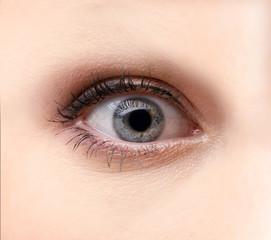 A beautiful micro shot of an eye of a beautiful woman