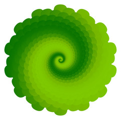 Abstract Swirl on White Background