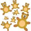 Seamless with teddy bears