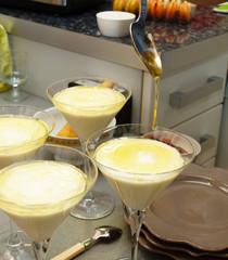 dessert nappé au miel