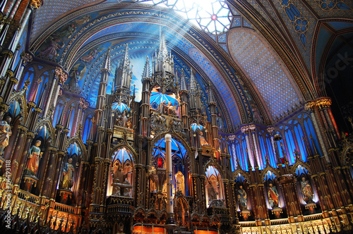 Leinwandbild Motiv Montreal Notre-Dame Basilica