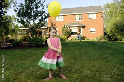 Cute little girl with balloon