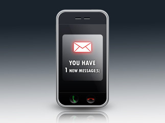 """Mobile Device """"You have 1 new message"""""""