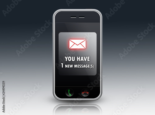 "Mobile Device ""You have 1 new message"""