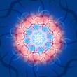 Red & Blue - Kosmic Waves Mandala