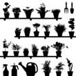 Flower Pot Silhouette - 24498553