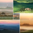 Collage Scenic view of typical Tuscany