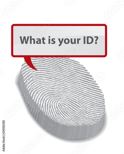 What is your ID? - Vector of a finger print