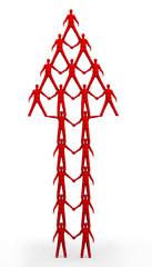 Team Pyramid Red Up Arrow
