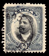 Old vintage Cuba postage stamp