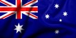 3D Flag of Australia satin