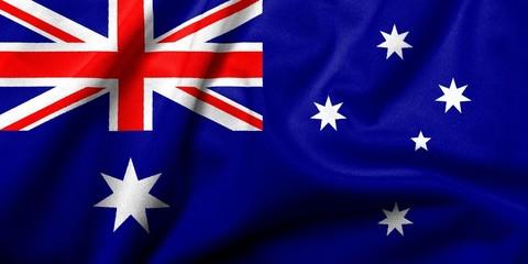 3D Flag of Australia satin