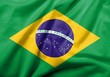 3D Flag of Brazil satin