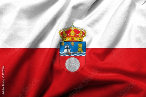 3D Flag of Cantabria satin