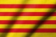 3D Flag of Catalonia waving