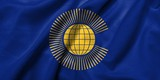 3D Flag of  Commonwealth of Nations satin