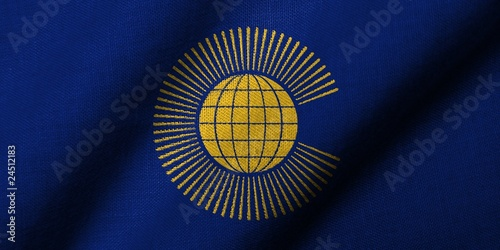 3D Flag of  Commonwealth of Nations waving