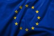 3D Flag of  European Union satin