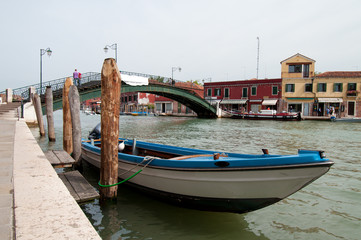 scenic views of the island of Murano, Italy