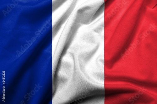 3D Flag of  France satin