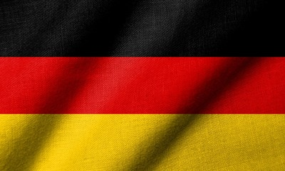 3D Flag of  Germany waving
