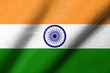 3D Flag of  India waving