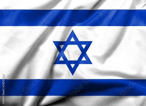 3D Flag of  Israel satin