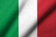 3D Flag of  Italy waving
