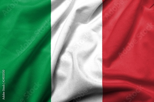 3D Flag of  Italy satin