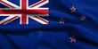 3D Flag of New Zealand satin