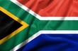 3D Flag of South Africa satin
