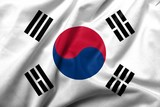 3D Flag of South Korea satin