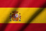 3D Flag of Spain waving