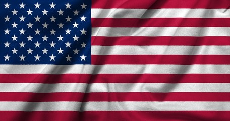 3D Flag of USA satin