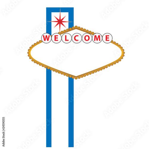 Fototapeta Blank Las Vegas sign