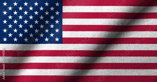 3D Flag of USA waving