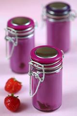 Verrines de betterave et fraise