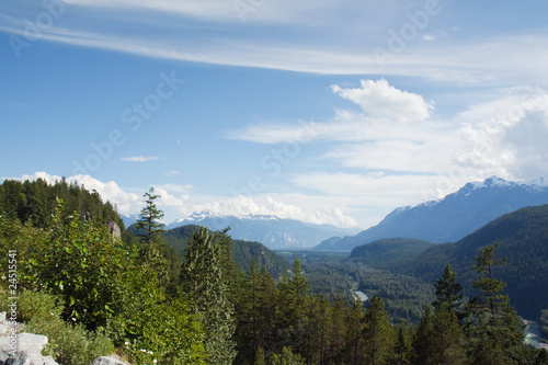 View of the Cheakamus River valley, Canada