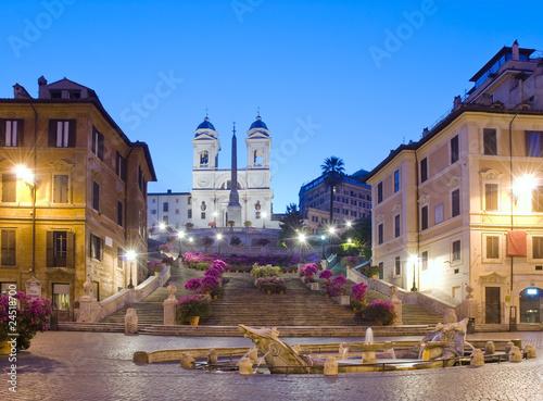 Primavera a Trinità dei Monti, Piazza di Spagna, Roma