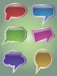 Set of 6 speech glossy bubbles.