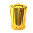 Gold trash can