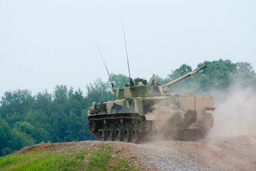 BMD-4 armored vehicle on the move